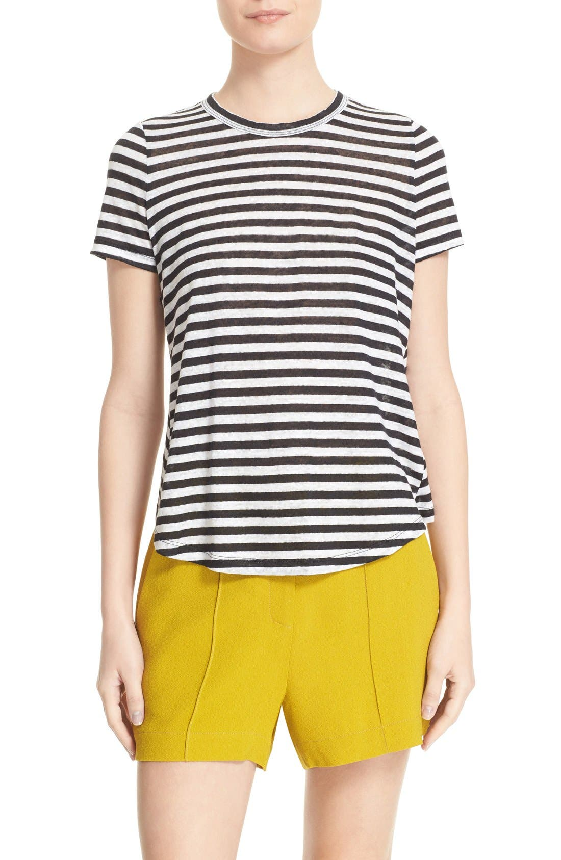 Alternate Image 1 Selected - A.L.C. Tesi Stripe Linen Tee