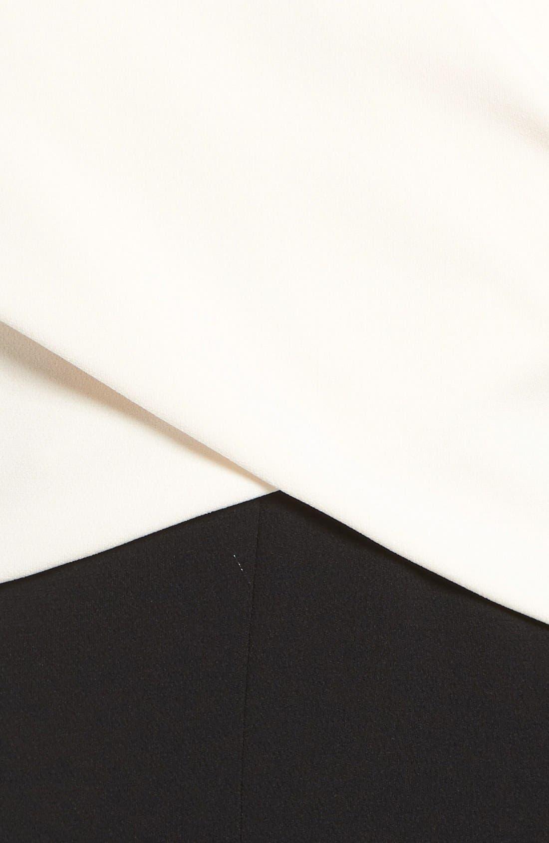 Wide Leg Jumpsuit,                             Alternate thumbnail 6, color,                             Ivory/ Black