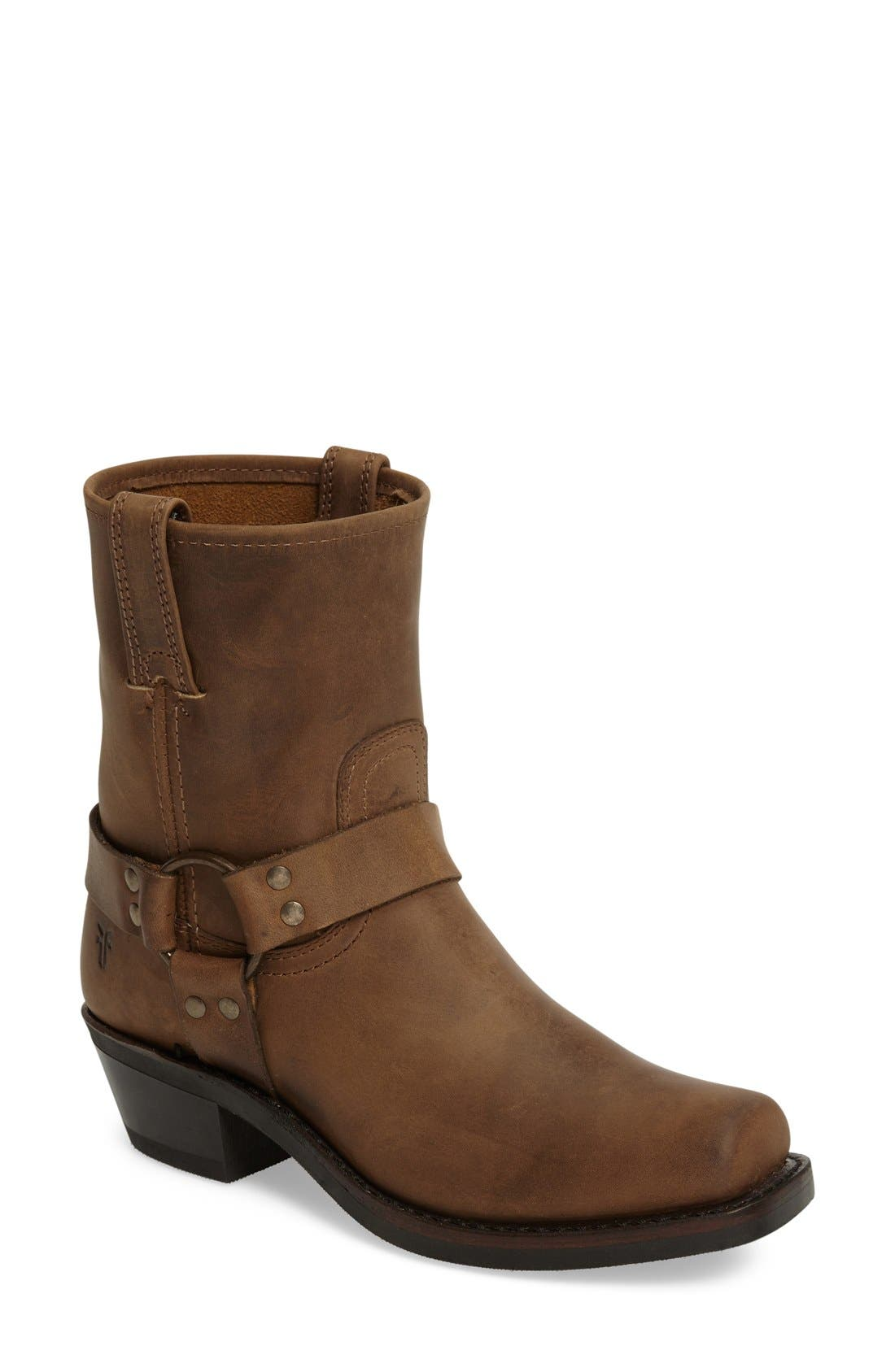 Harness Square Toe Engineer Boot,                         Main,                         color, Tan