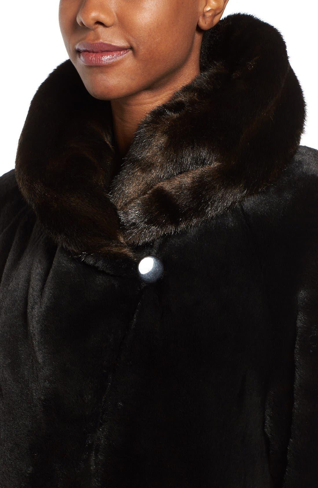 Alternate Image 4  - Gallery Hooded Full-Length Faux Fur Coat