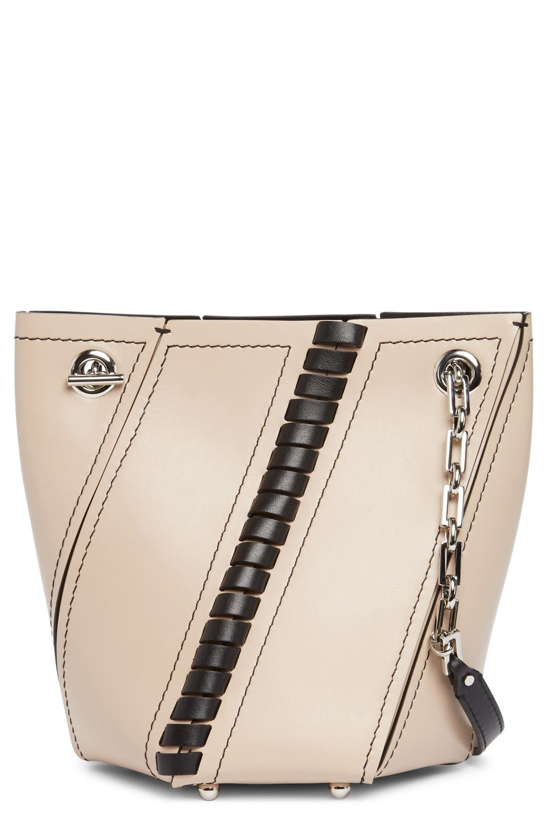Proenza Schouler Mini Hex Whipstitch Leather Bucket Bag