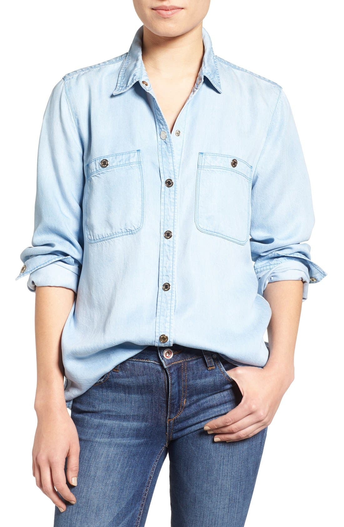 Main Image - 7 For All Mankind® Boyfriend Chambray Shirt