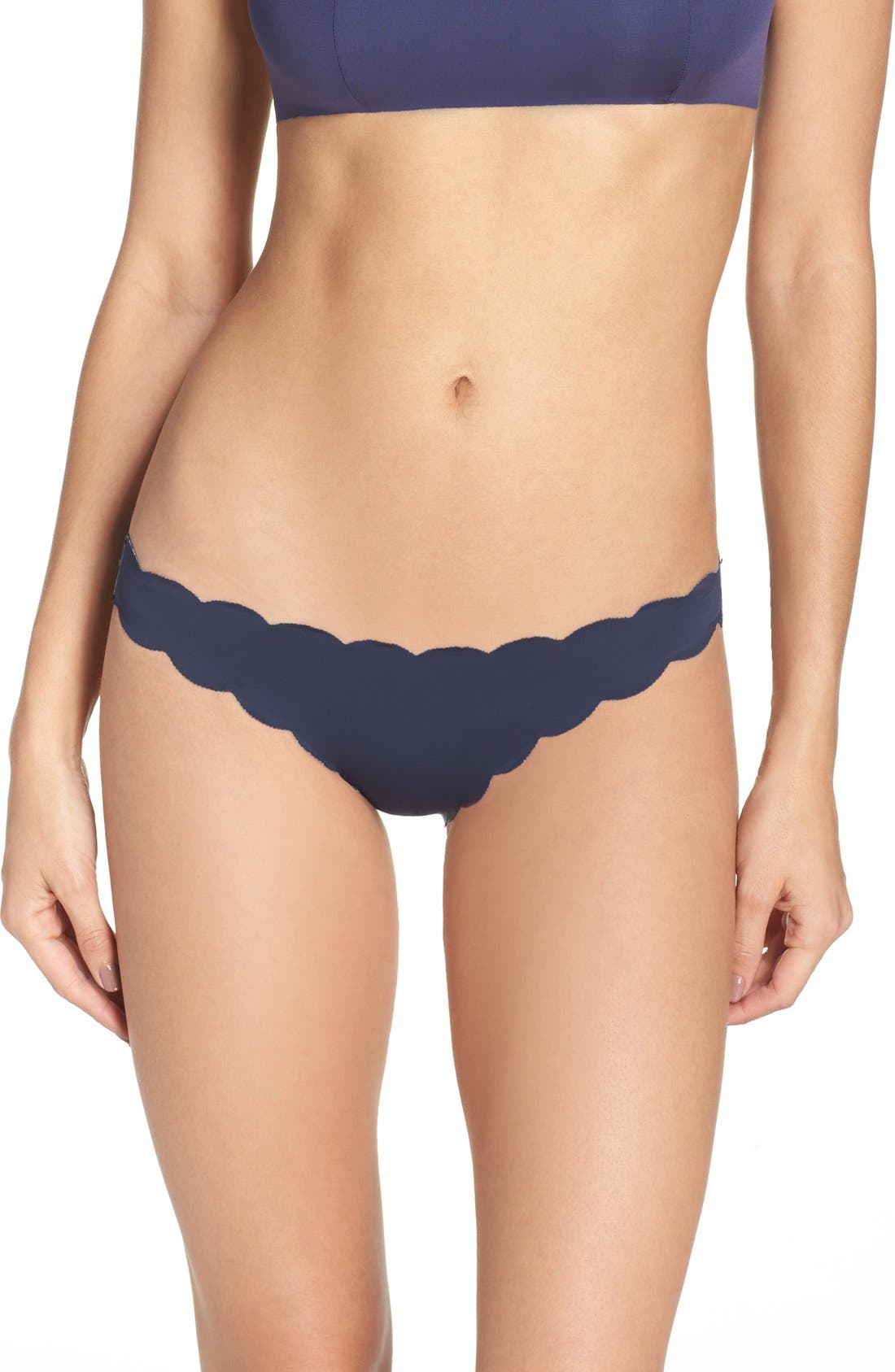 Alternate Image 3  - PilyQ Seamless Reversible Bikini Bottoms