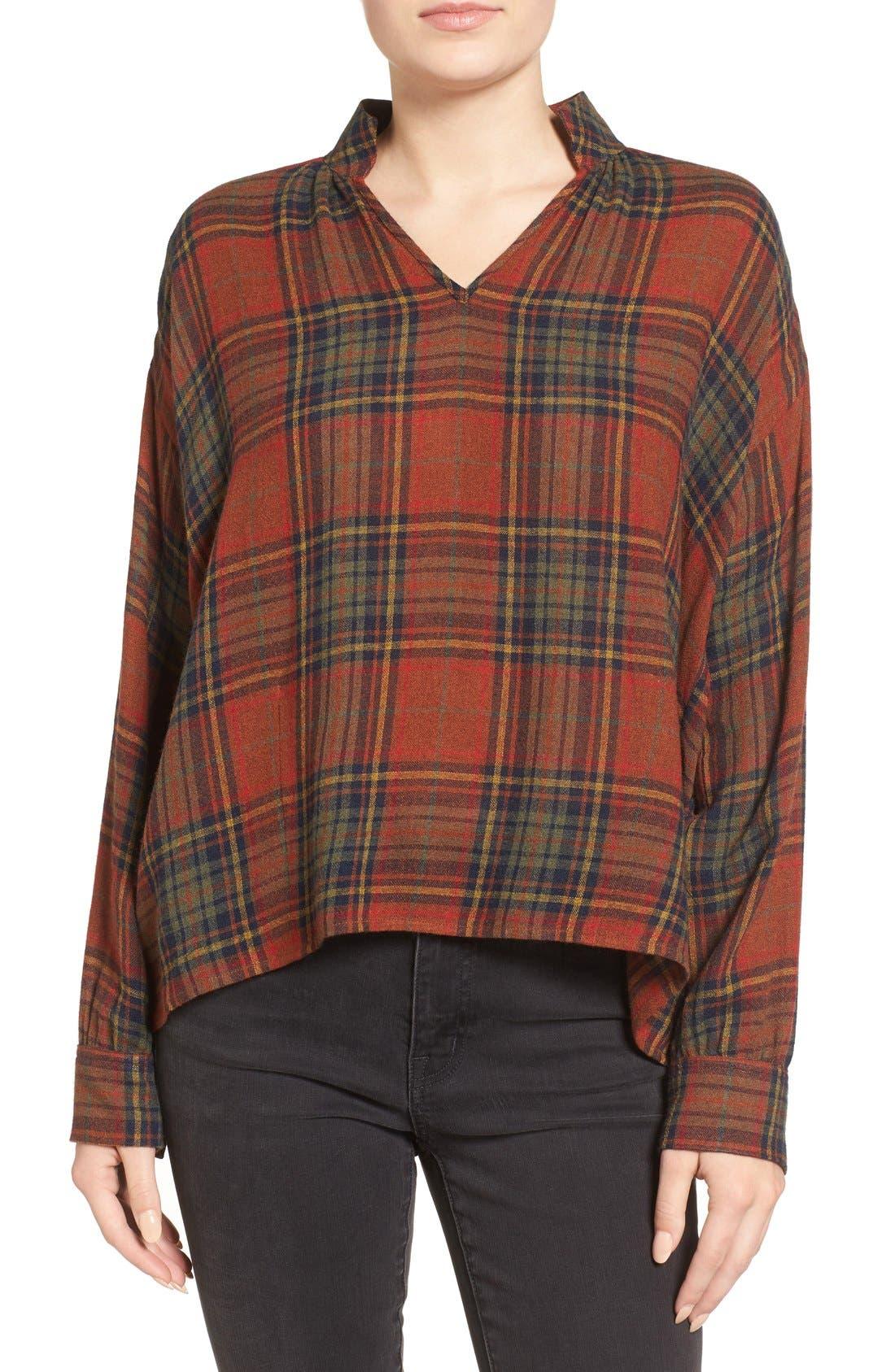 Main Image - Madewell Highroad Plaid Popover Shirt