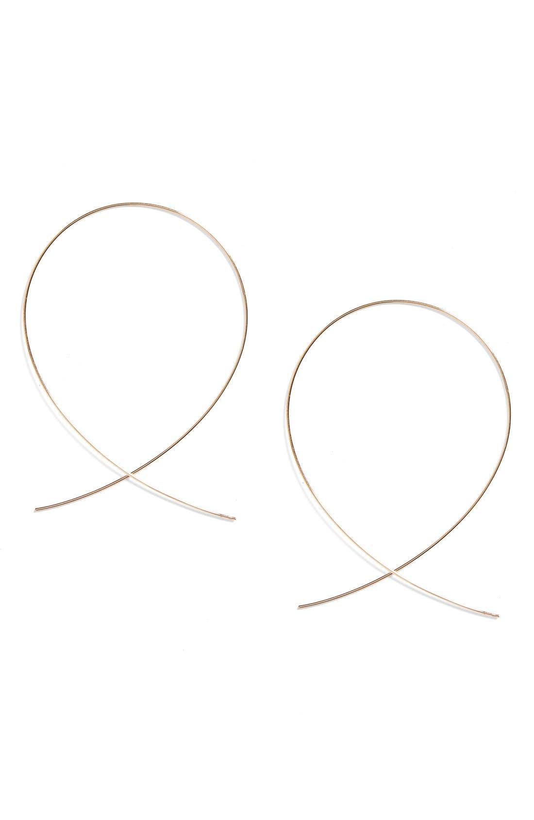 LANA JEWELRY Large Upside Down Hoop Earrings