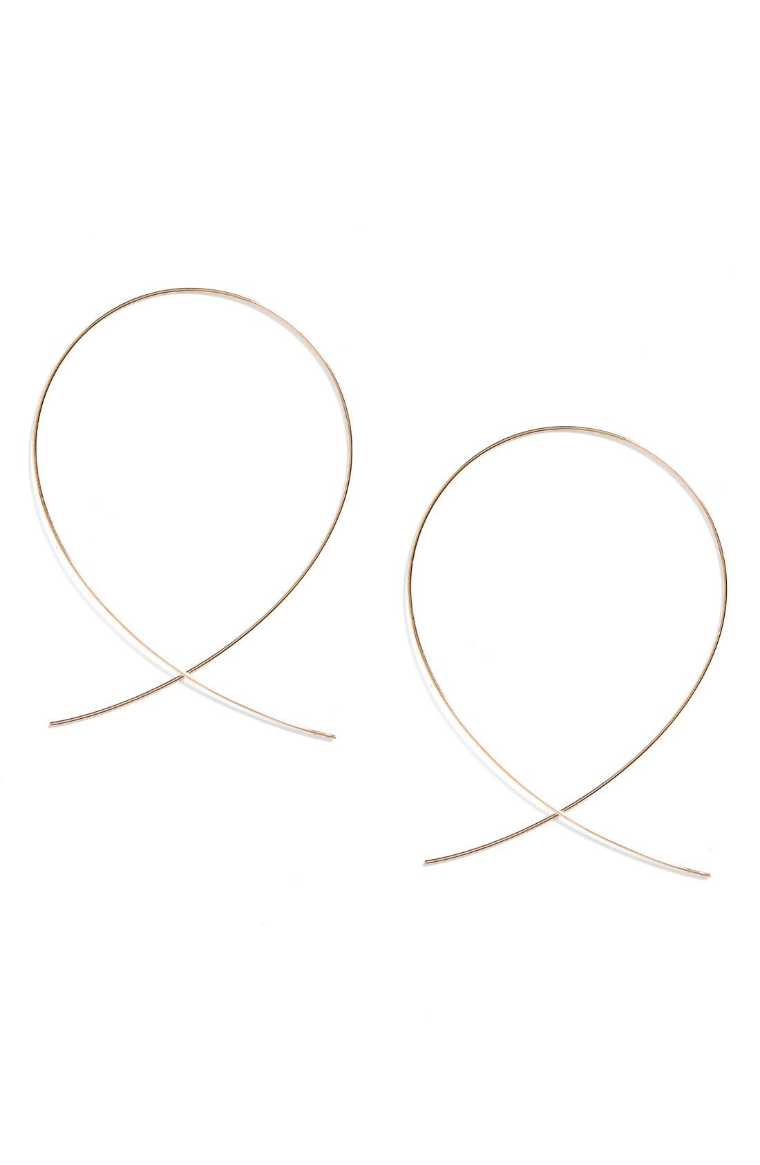 Lana Jewelry 'Large Upside Down' Hoop Earrings