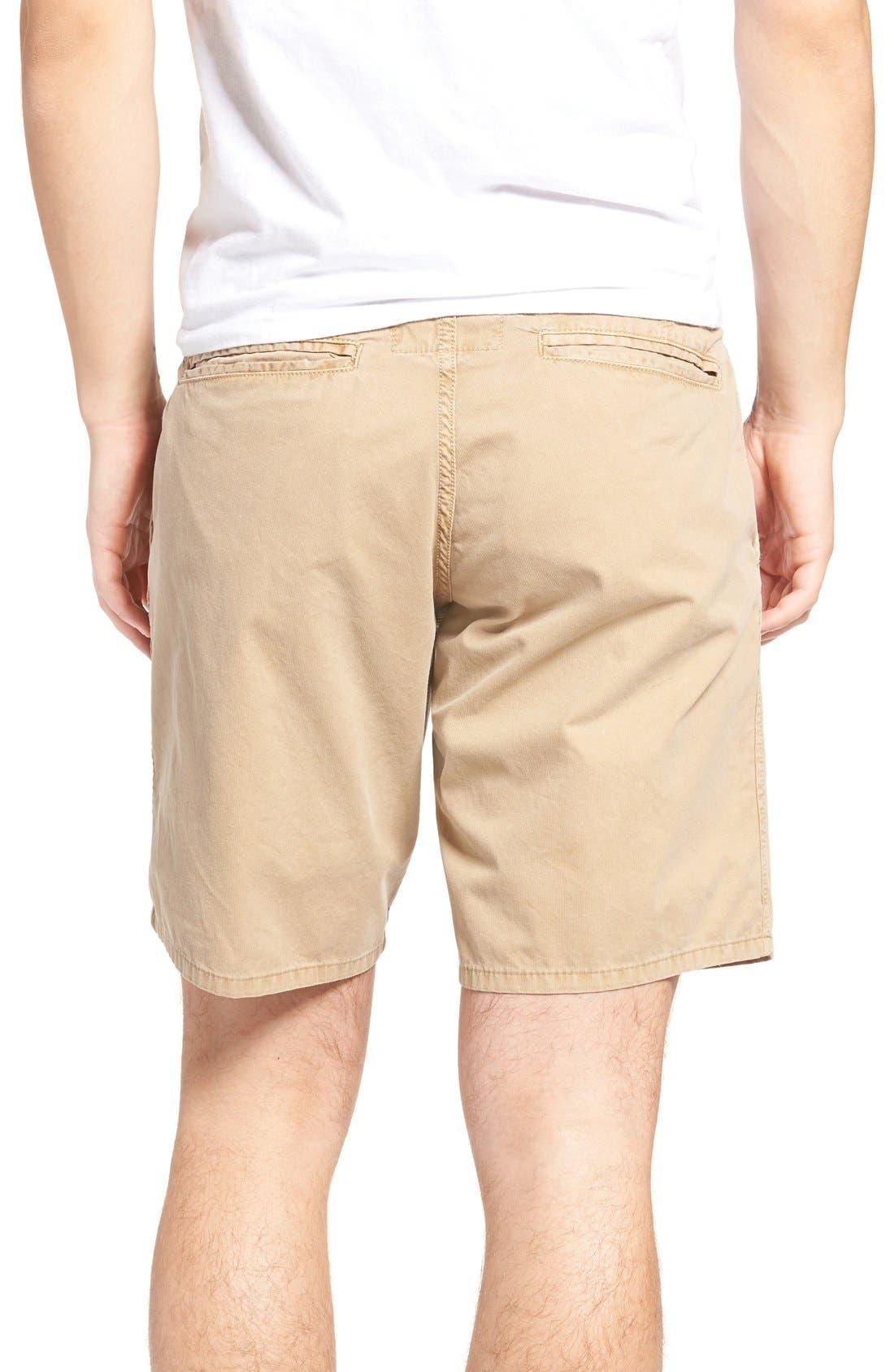 St. Martin Bedford Cord Shorts,                             Alternate thumbnail 2, color,                             Khaki
