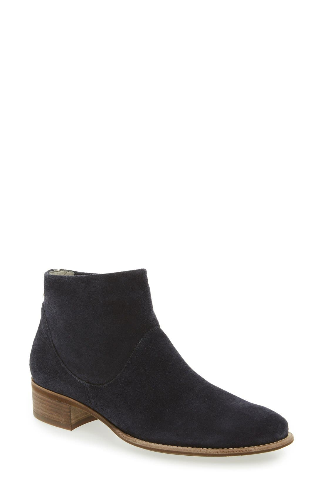 Logan Bootie,                             Main thumbnail 1, color,                             Navy Suede