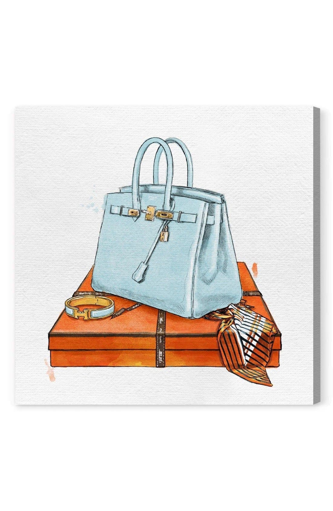 My Bag Collection I Canvas Print,                         Main,                         color, Blue