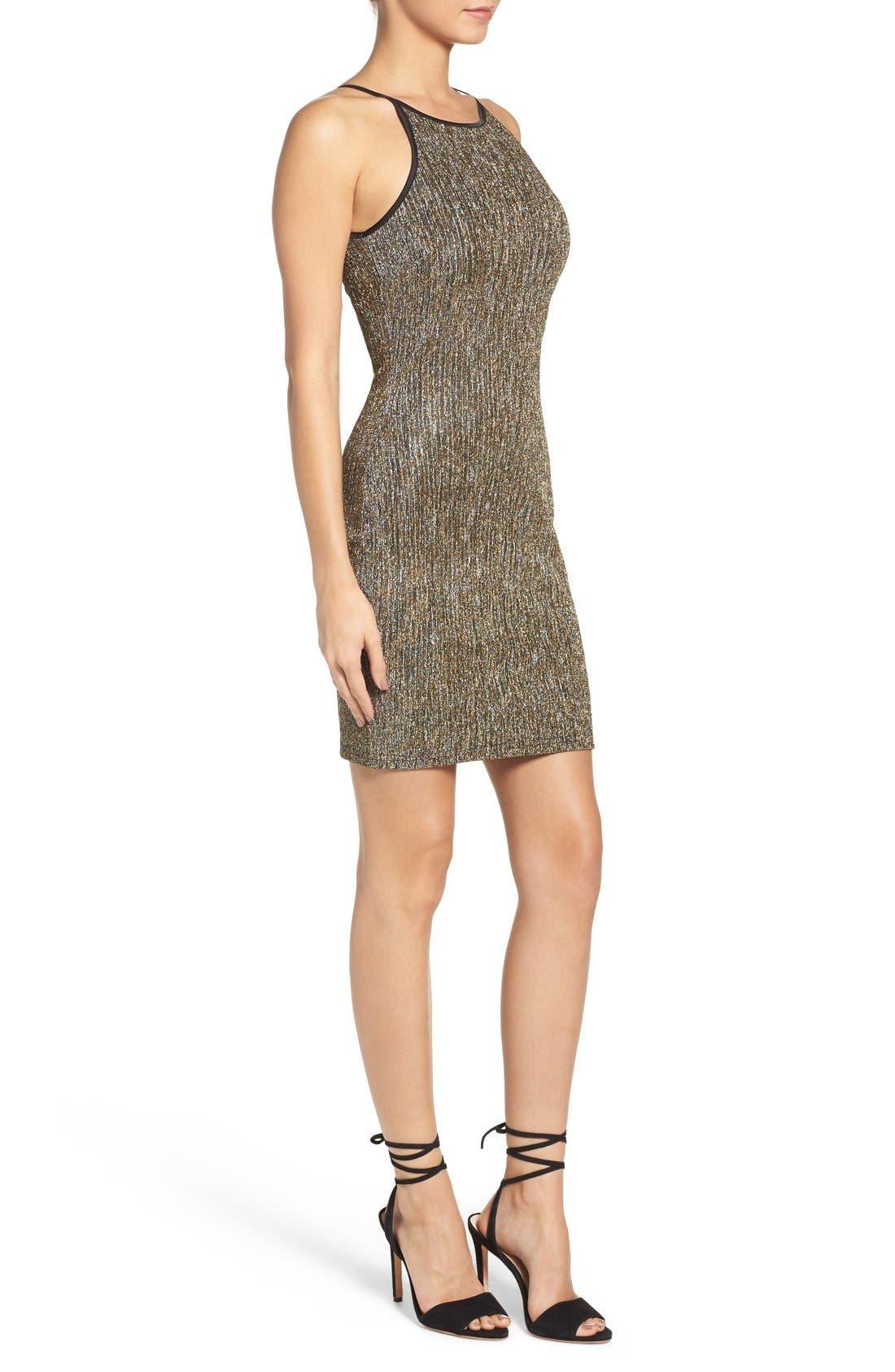 Alternate Image 3  - Gerylin Metallic Knit Body-Con Dress