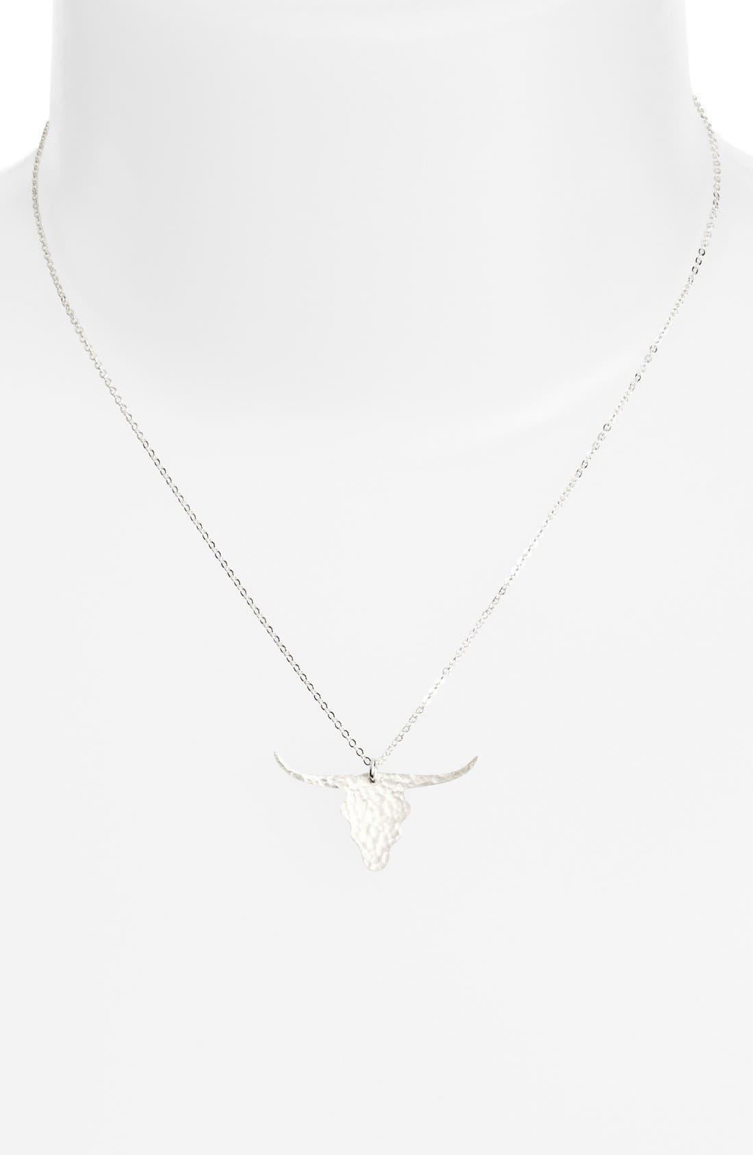 Alternate Image 1 Selected - Nashelle Longhorn Pendant Necklace