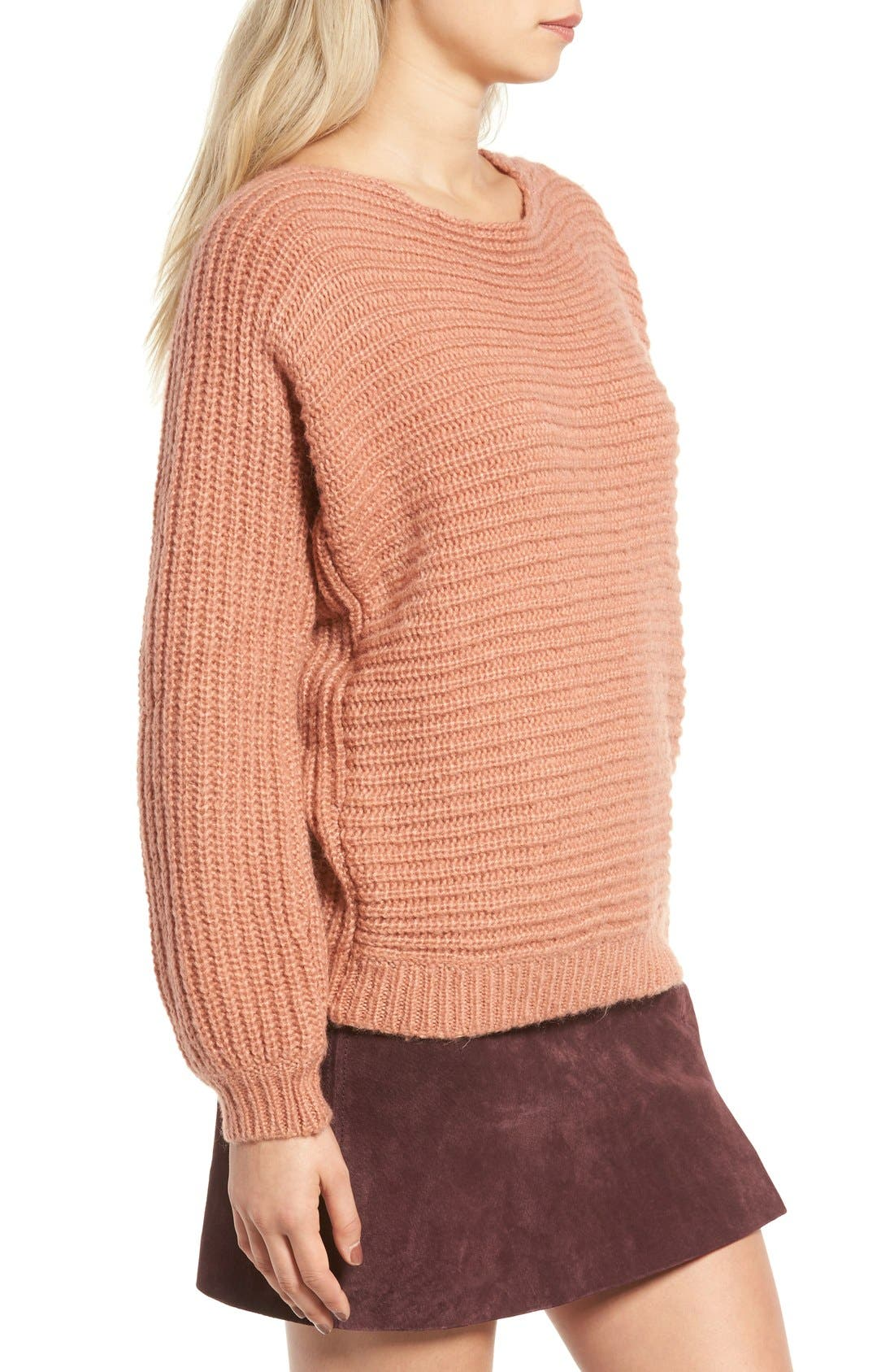 Alternate Image 3  - Glamorous Open Back Boyfriend Sweater