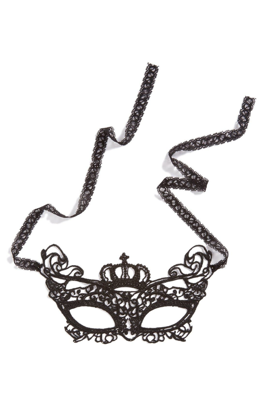 Alternate Image 1 Selected - Topshop Lace Masquerade Ball Mask