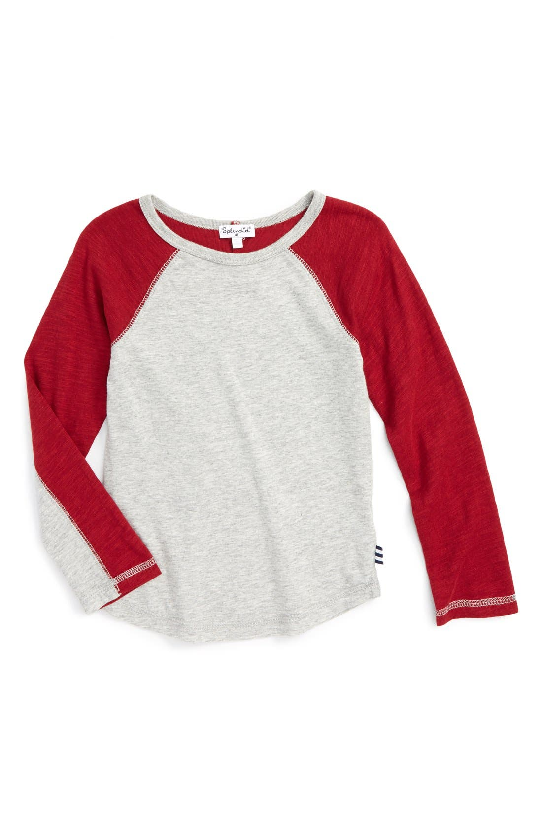 Slub Knit T-Shirt,                         Main,                         color, Grey Heather Red