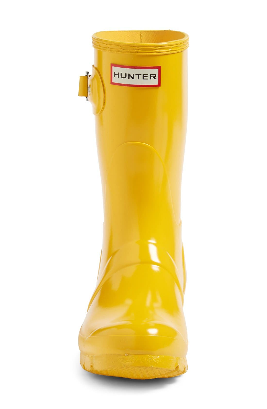 'Original Short' Gloss Rain Boot,                             Alternate thumbnail 3, color,                             Yellow