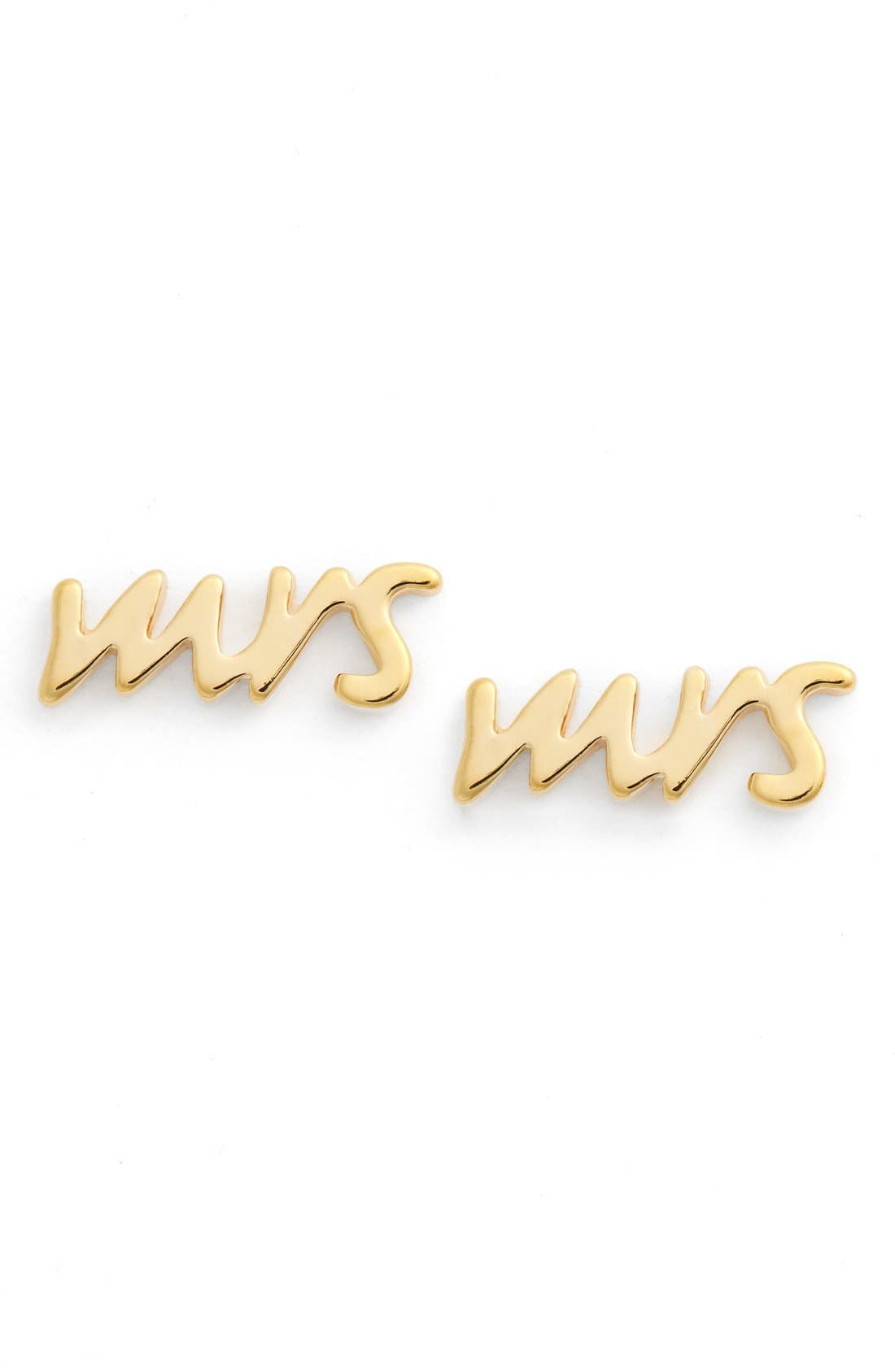 Main Image - kate spade new york 'say yes - mrs' stud earrings