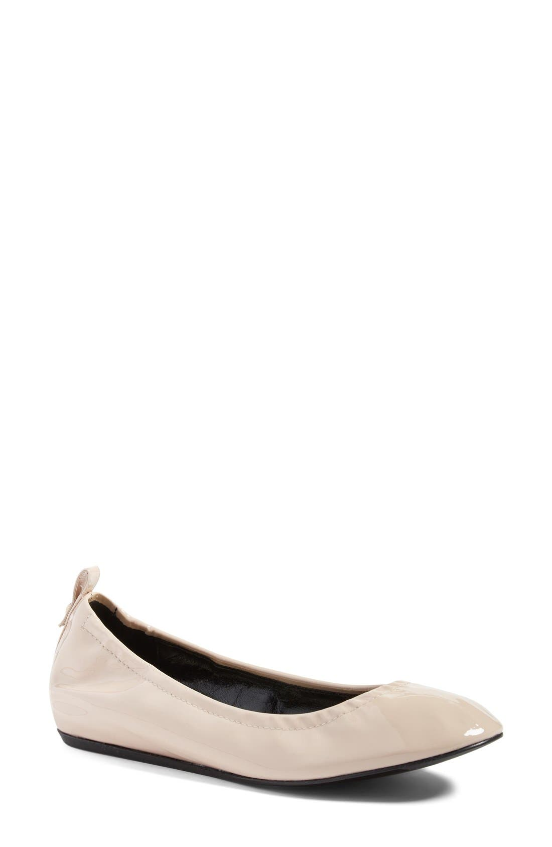 Alternate Image 1 Selected - Lanvin Smooth Leather Ballet Flat (Women)
