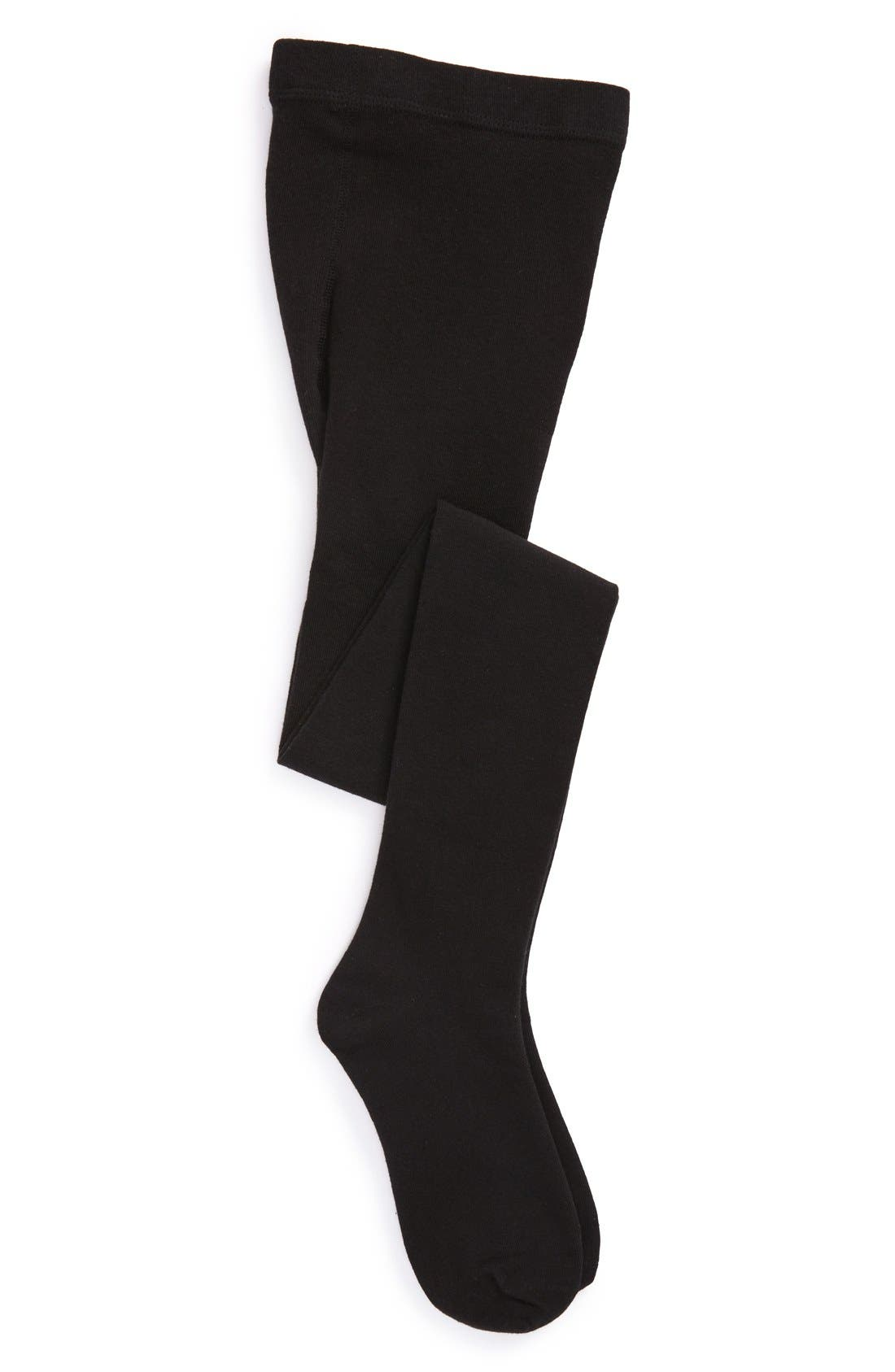 Nordstrom Sweater Tights,                             Main thumbnail 1, color,                             Black