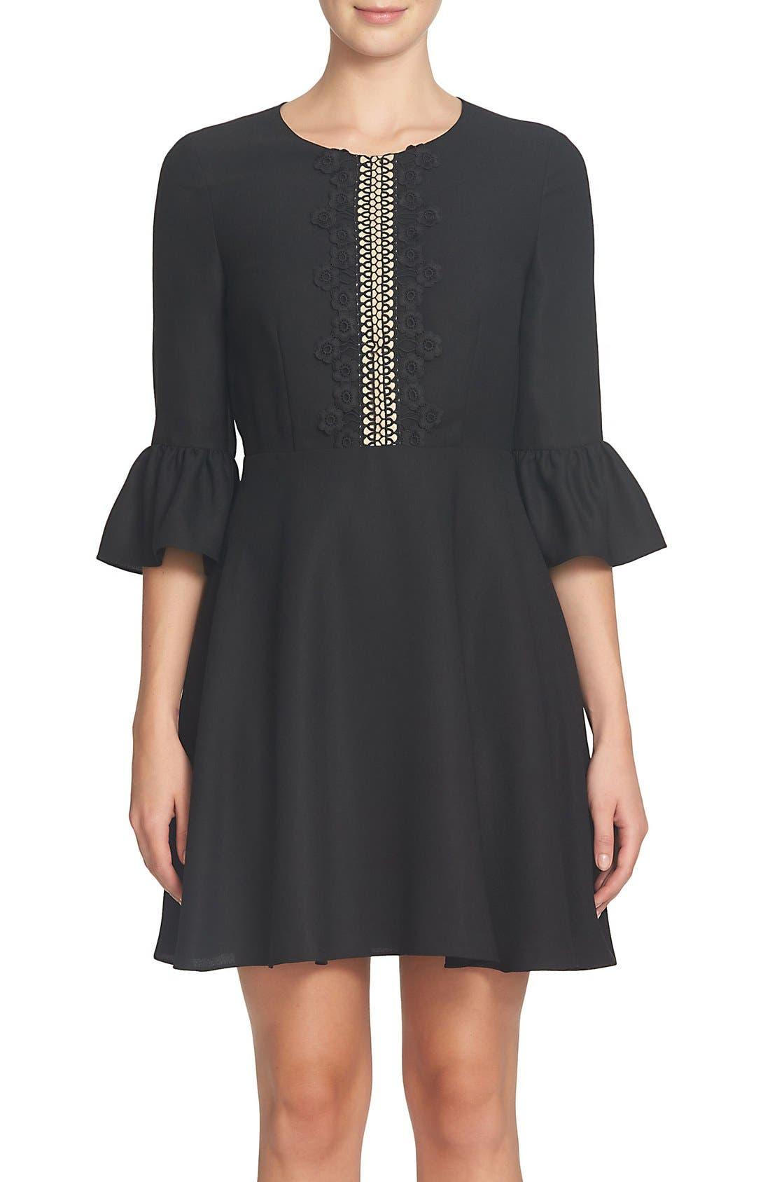 Alternate Image 1 Selected - CeCe Laine Fit & Flare Dress (Regular & Petite)