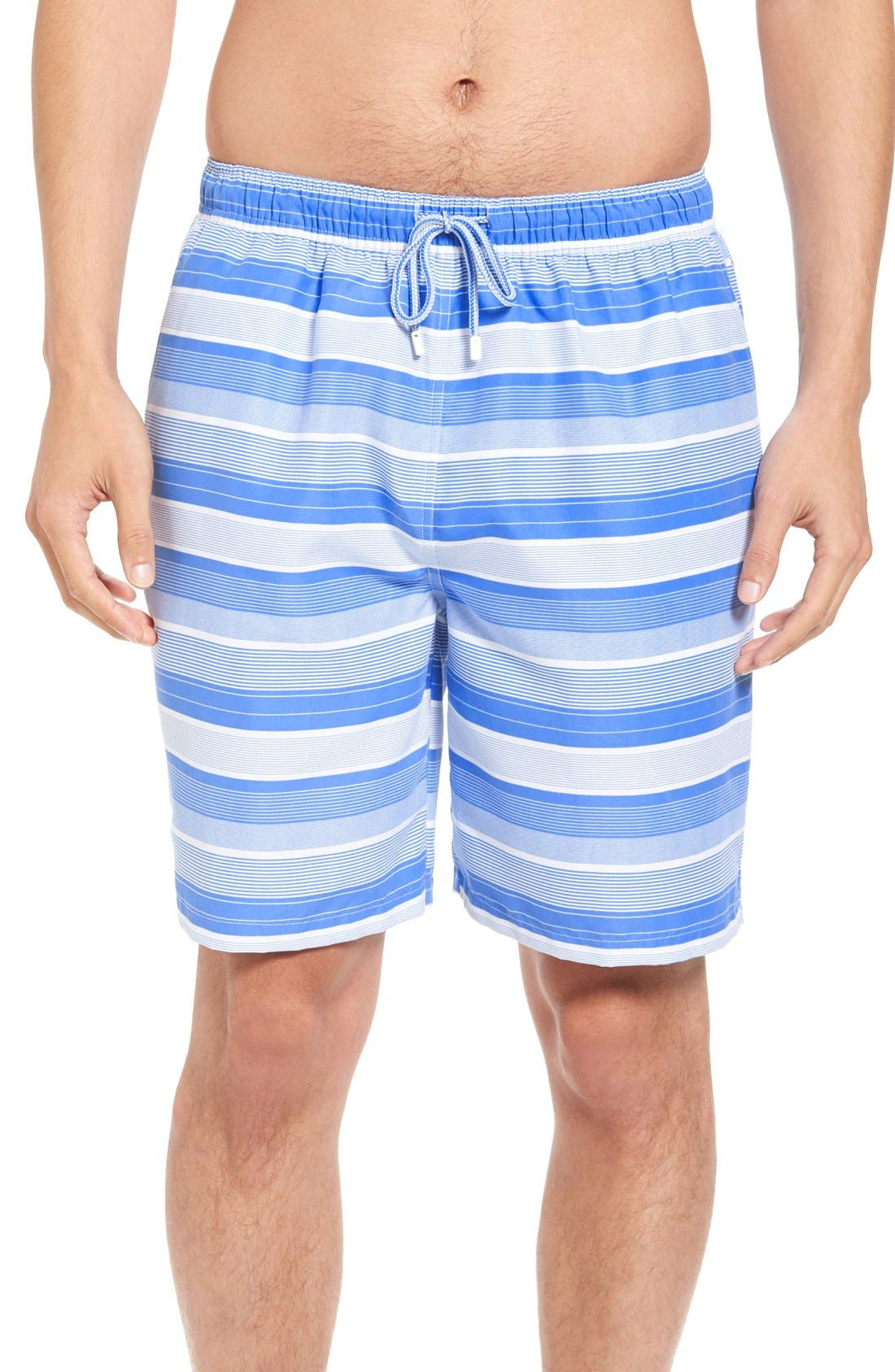 Peter Millar Vintage Stripe Swim Trunks