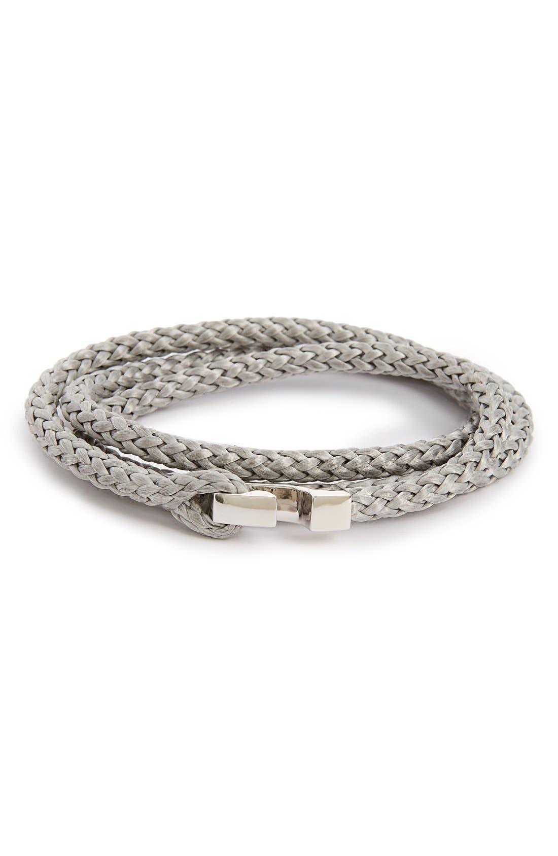 Ipsum Rope Wrap Bracelet,                         Main,                         color, Gray