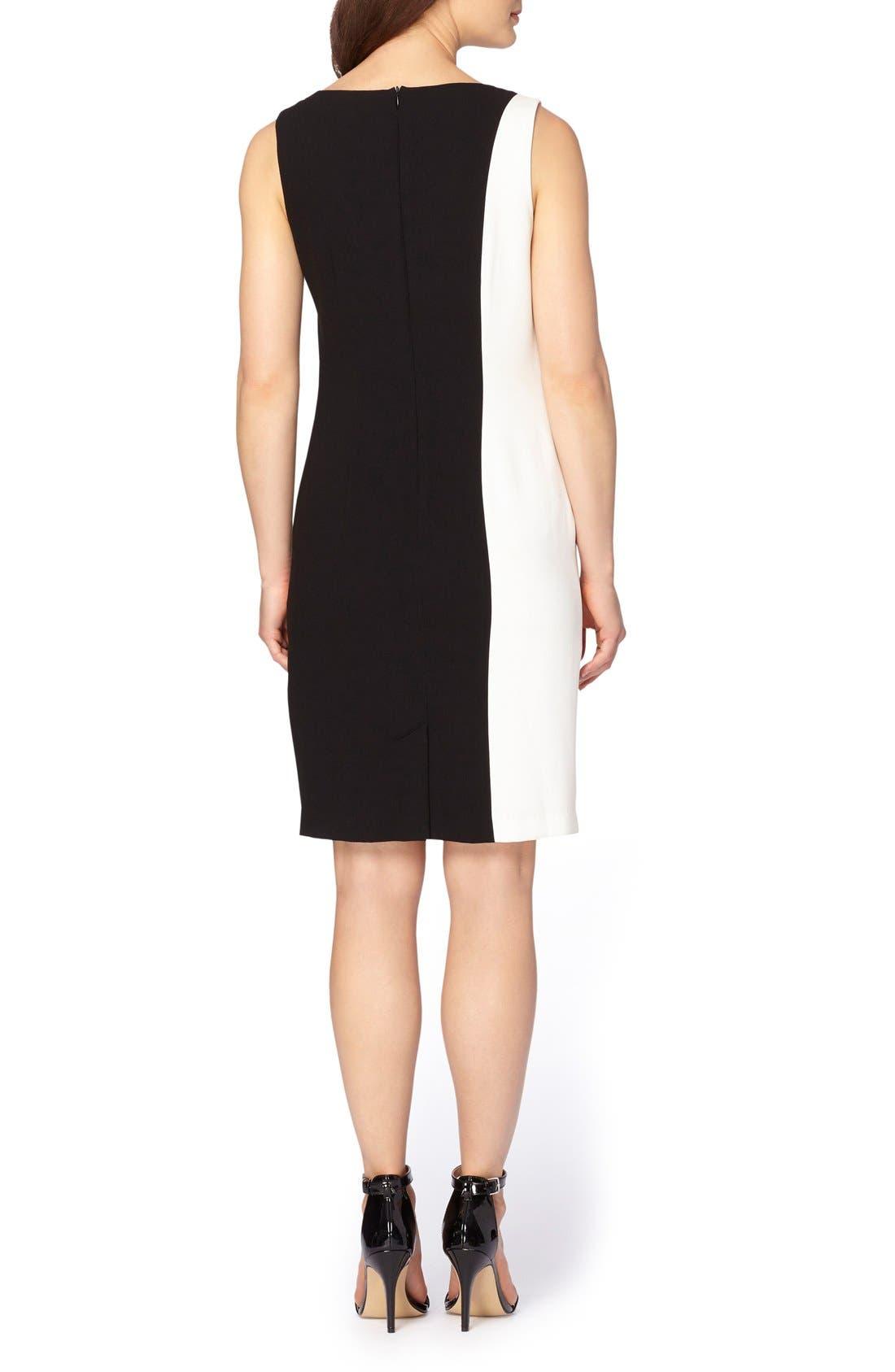 Embellished Sheath Dress,                             Alternate thumbnail 2, color,                             Black/ Ivory