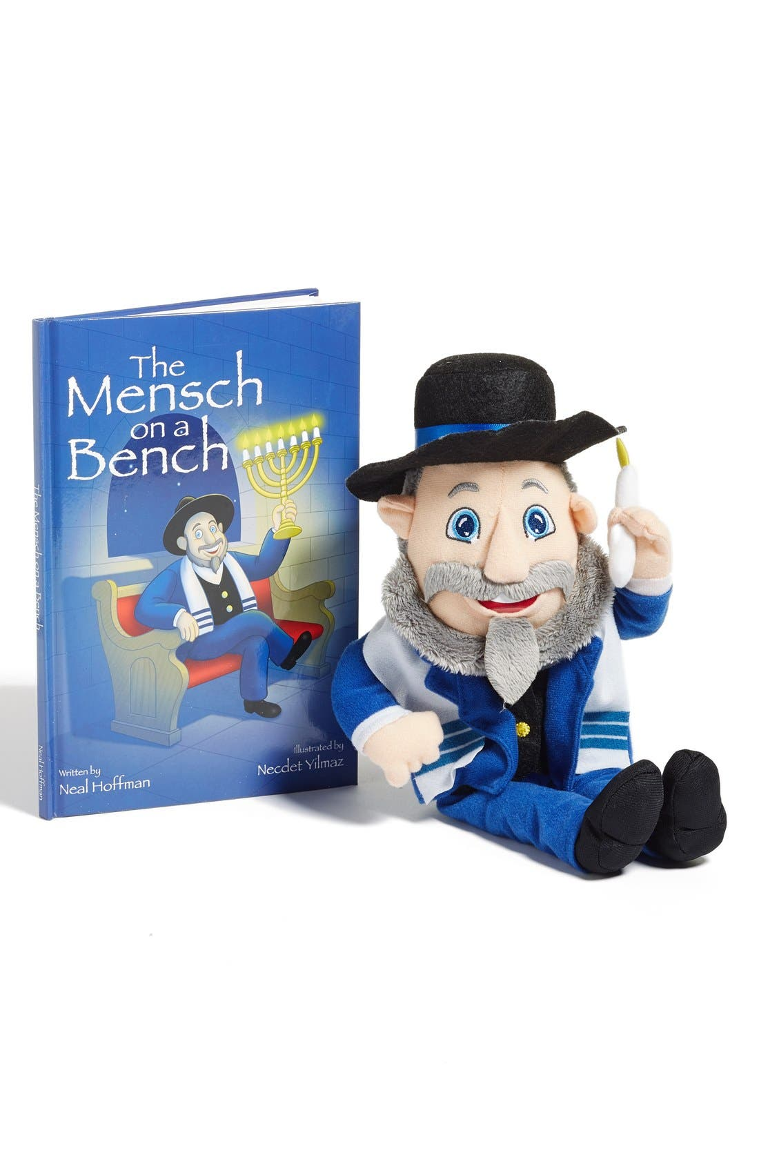 License 2 Play Mensch on a Bench Stuffed Doll & Book Set