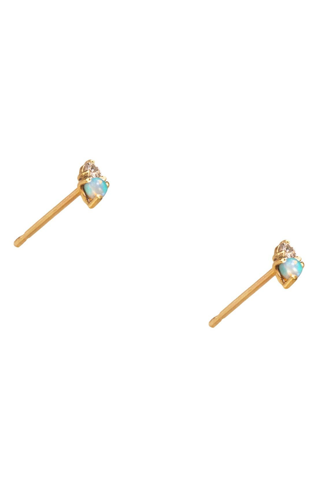 Alternate Image 2  - WWAKE Counting Collection Two-Step Opal & Diamond Stud Earrings