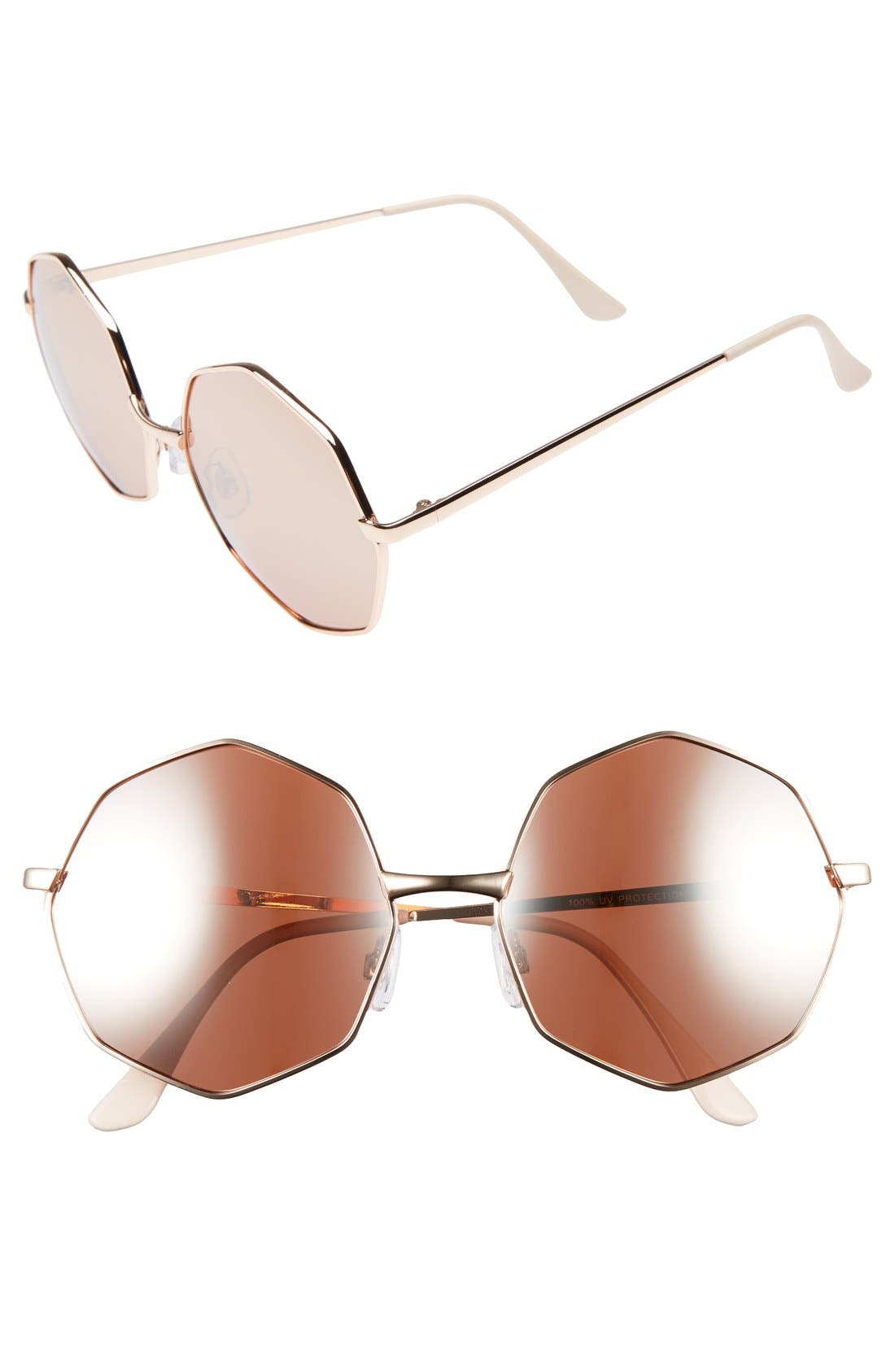 Main Image - BP. 58mm Octagon Metal Sunglasses