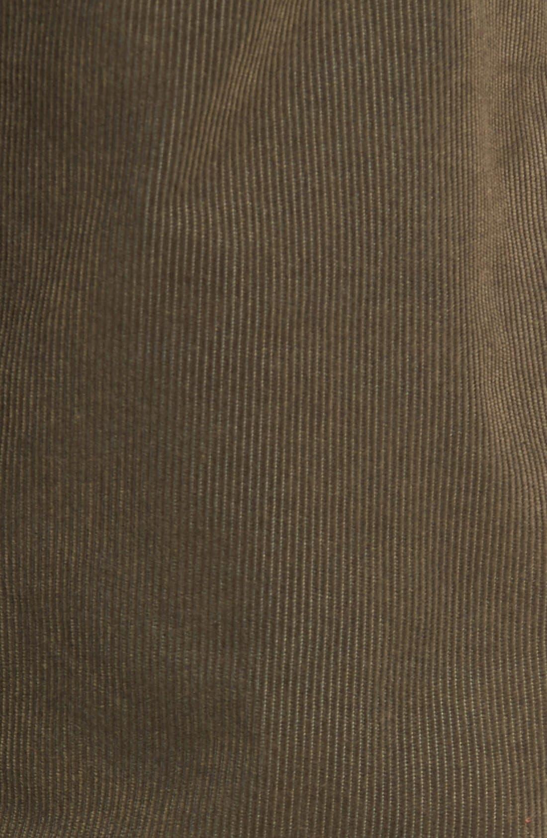 Slim Fit Corduroy Pants,                             Alternate thumbnail 5, color,                             Sage