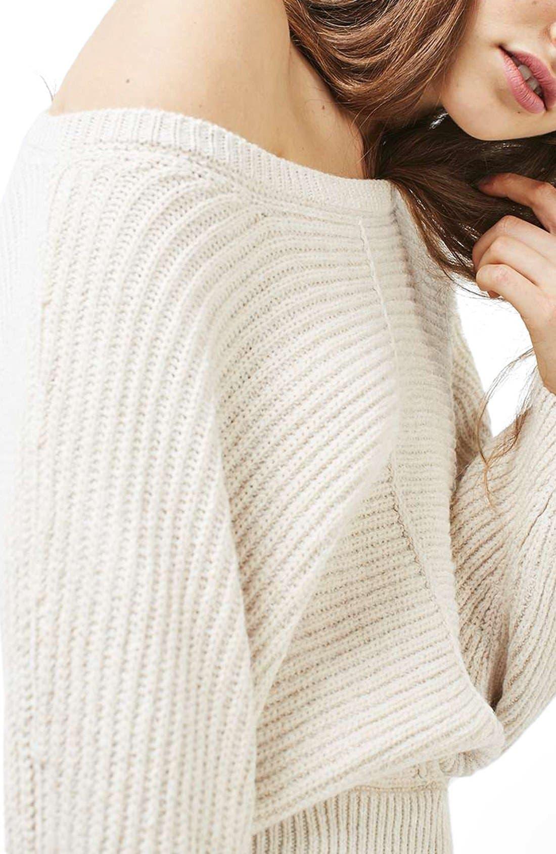 Alternate Image 5  - Topshop Kimono Sleeve Sweater