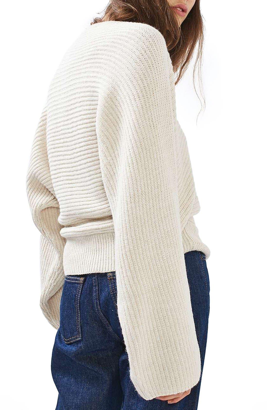 Alternate Image 3  - Topshop Kimono Sleeve Sweater