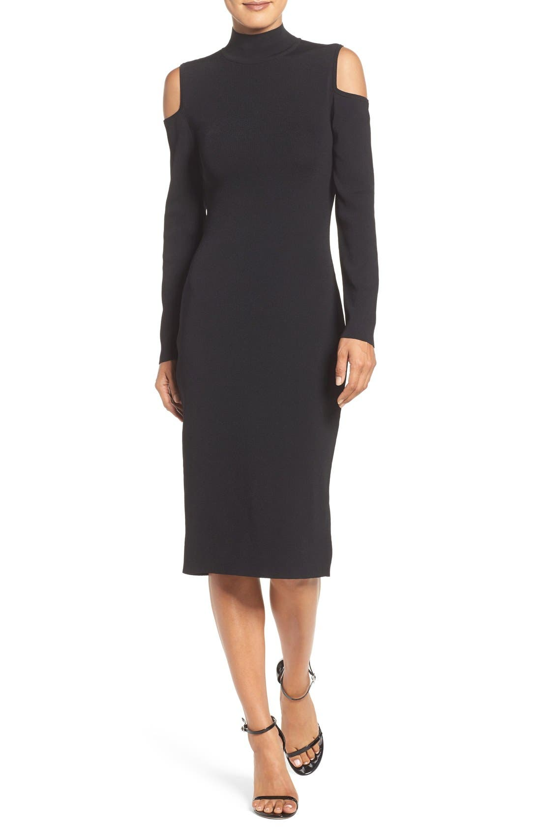 Main Image - Laundry by Shelli Segal Cold Shoulder Dress
