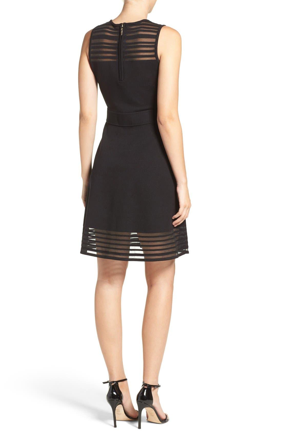 Alternate Image 2  - Eliza J Stripe Fit & Flare Dress (Regular & Petite)