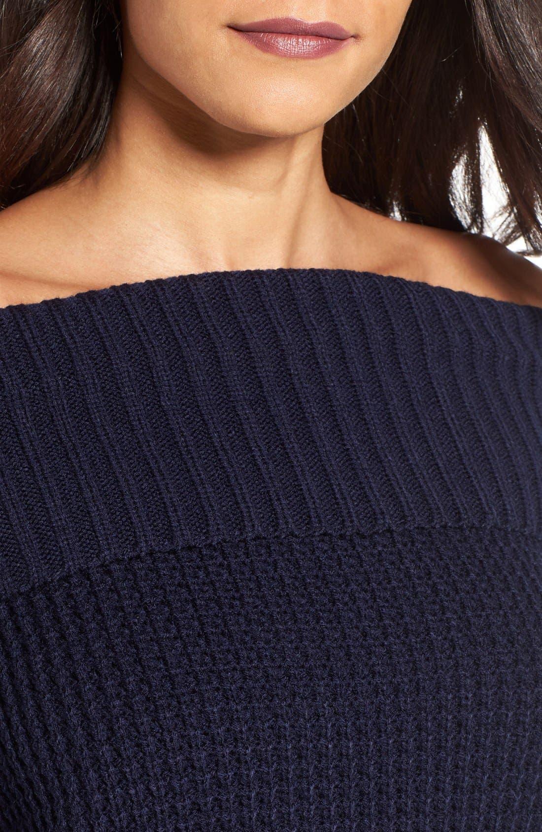 Alternate Image 4  - BP. Off the Shoulder Sweater