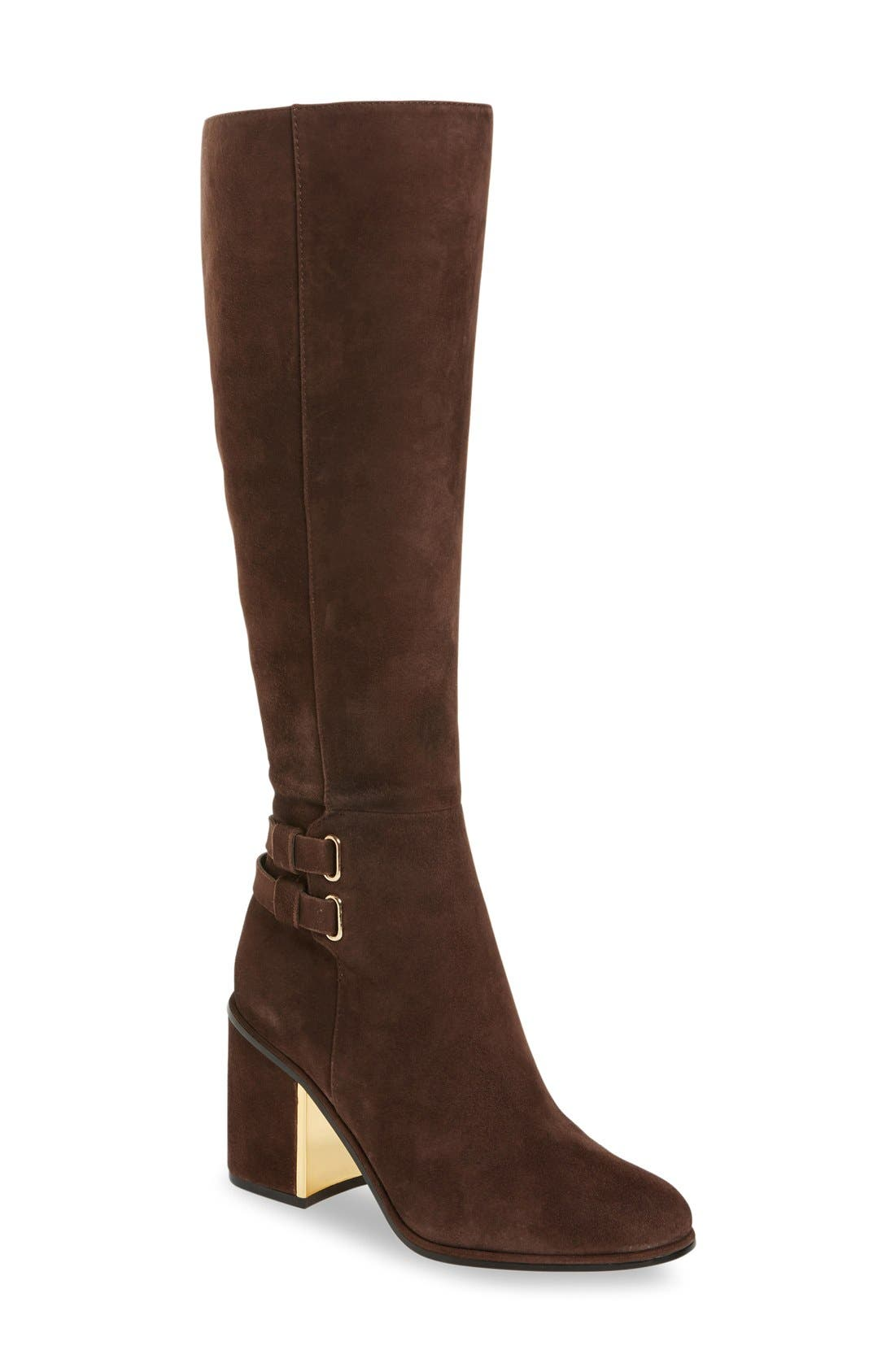 Alternate Image 1 Selected - Calvin Klein Camie Water Resistant Knee High Boot (Women)