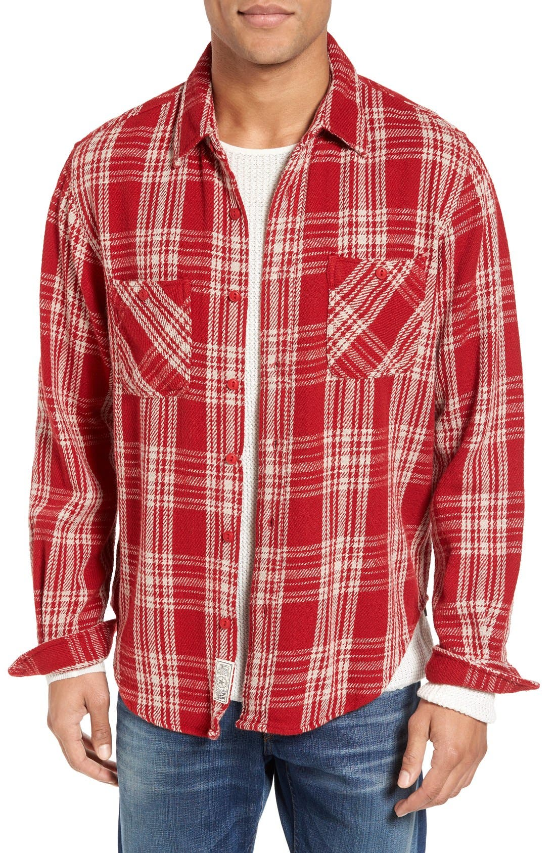 Schott NYC Plaid Flannel Shirt