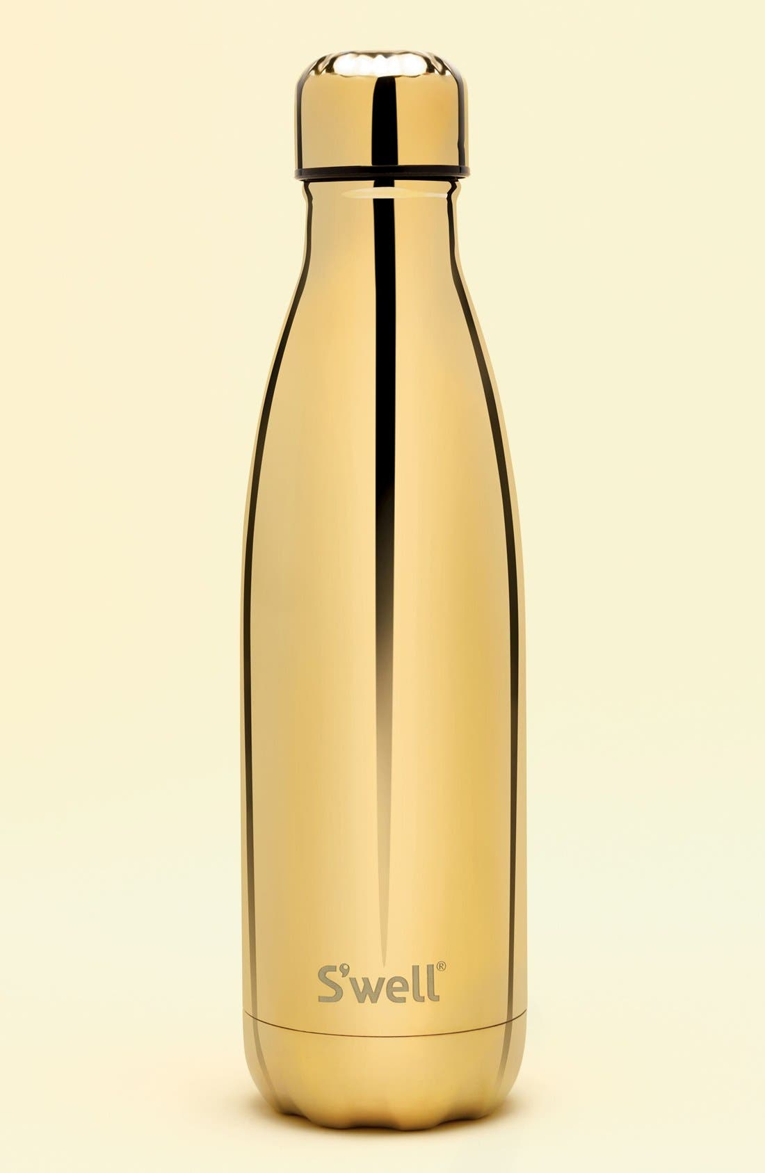 Alternate Image 4  - S'well 'Metallic Collection - Yellow Gold' Stainless Steel Water Bottle