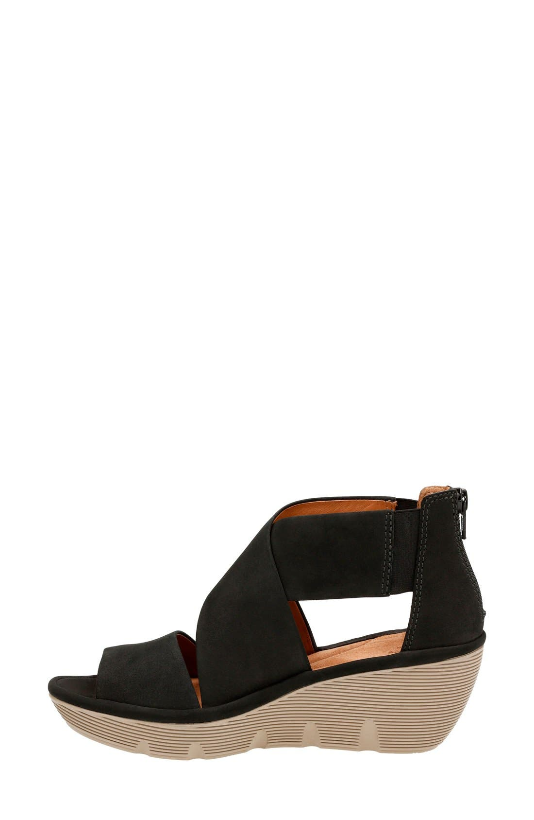 Alternate Image 2  - Clarks® Clarene Glamor Wedge Sandal (Women)