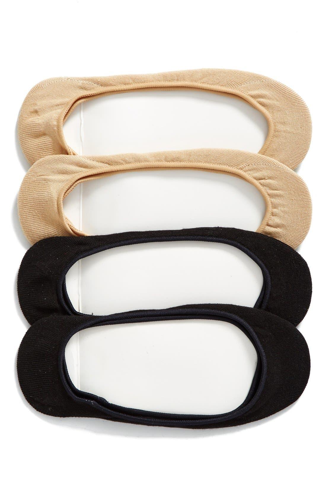 4-Pack Liner Socks,                             Main thumbnail 1, color,                             Assorted Pack