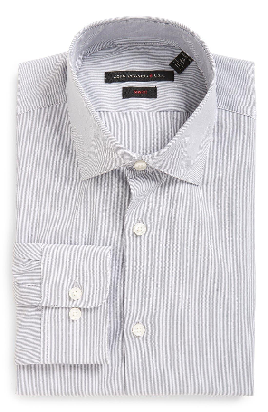 Main Image - John Varvatos Star USA Soho Slim Fit Stretch Stripe Dress Shirt