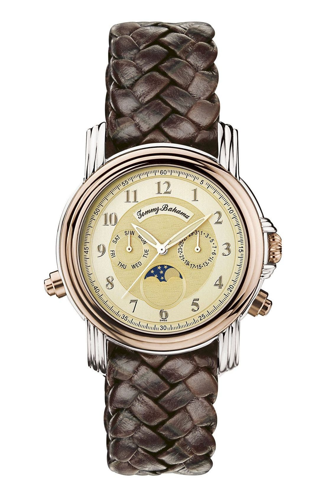 Main Image - Tommy Bahama Watches 'Steeling the Moon' Watch, 41mm