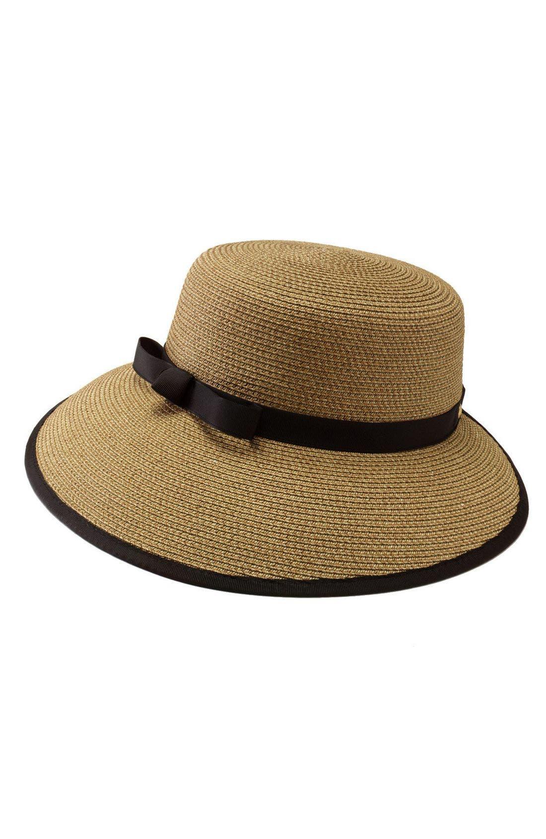 Squishee<sup>®</sup> Straw Cap,                             Main thumbnail 1, color,                             Natural/Black