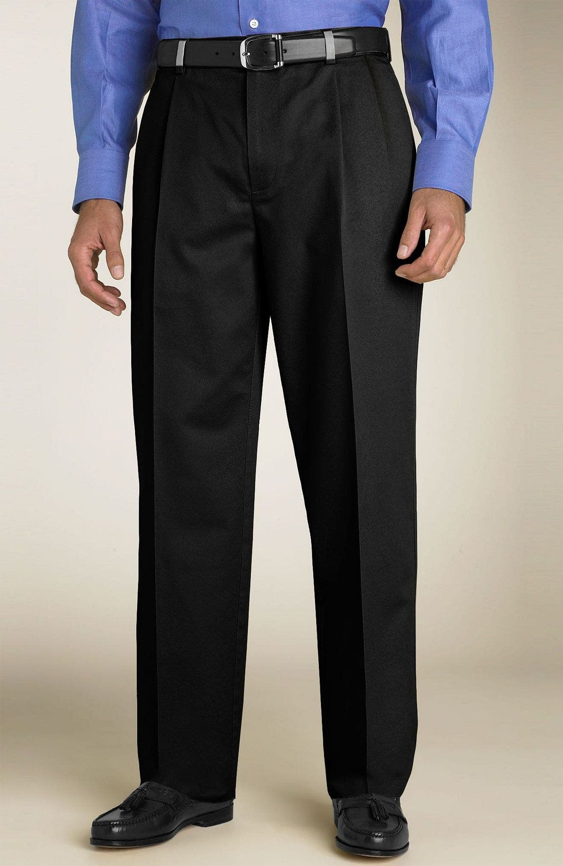 Alternate Image 1 Selected - Nordstrom Smartcare™ Double Pleated Pants