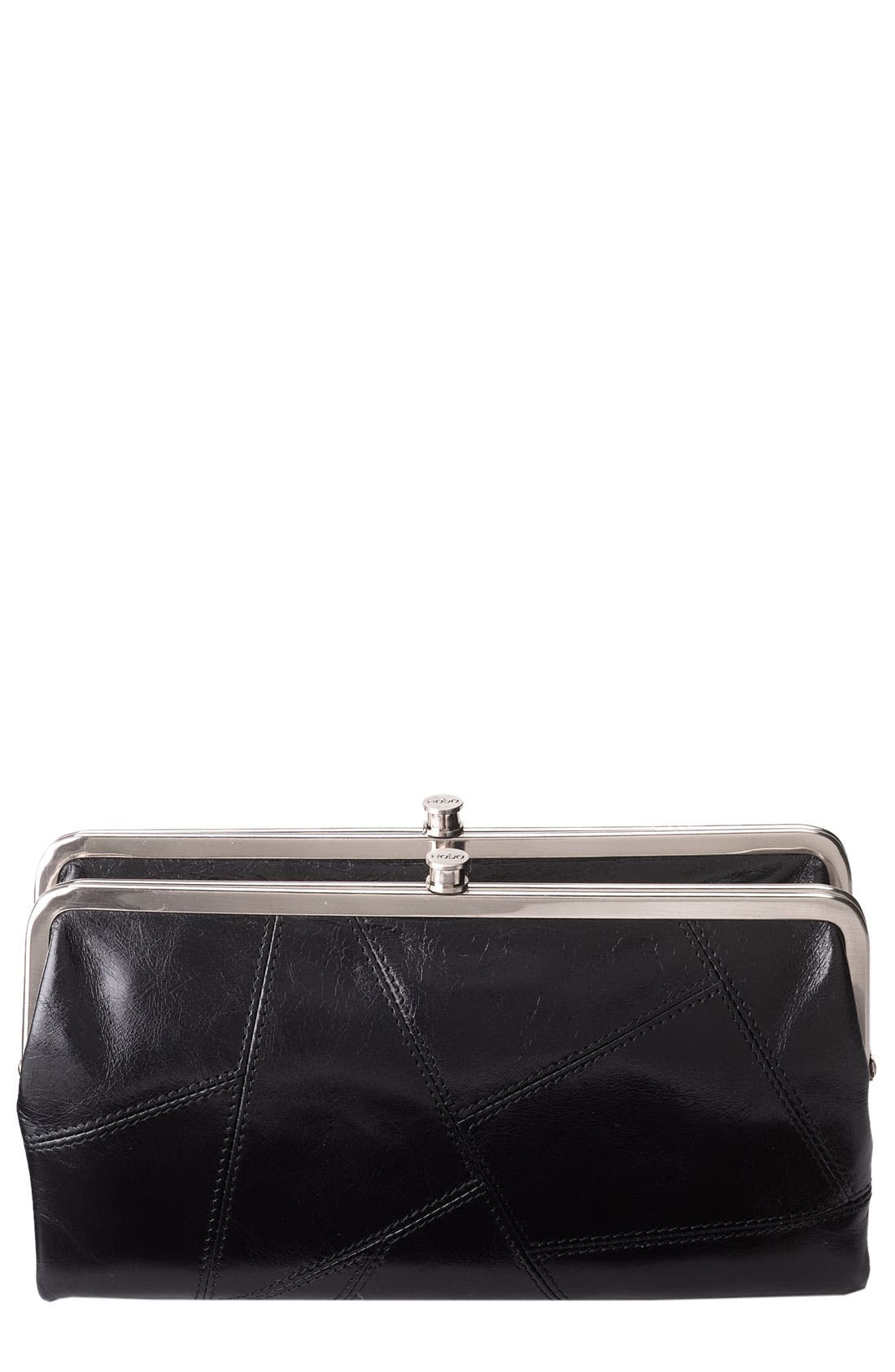 Main Image - Hobo 'Lauren' Pieced Double Frame Clutch Wallet