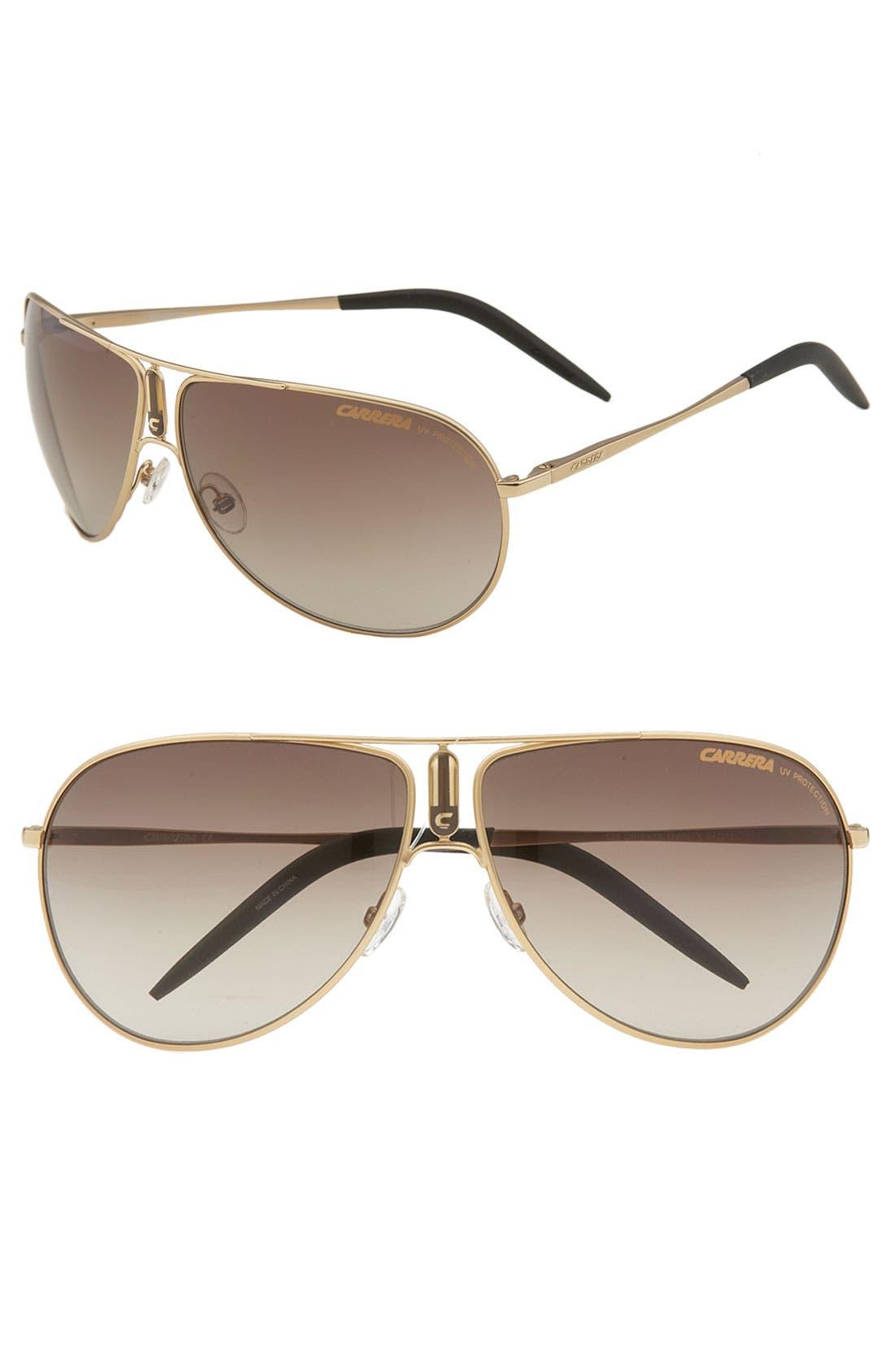 Alternate Image 1 Selected - Carrera Eyewear 'Gypsy' Metal Aviator Sunglasses