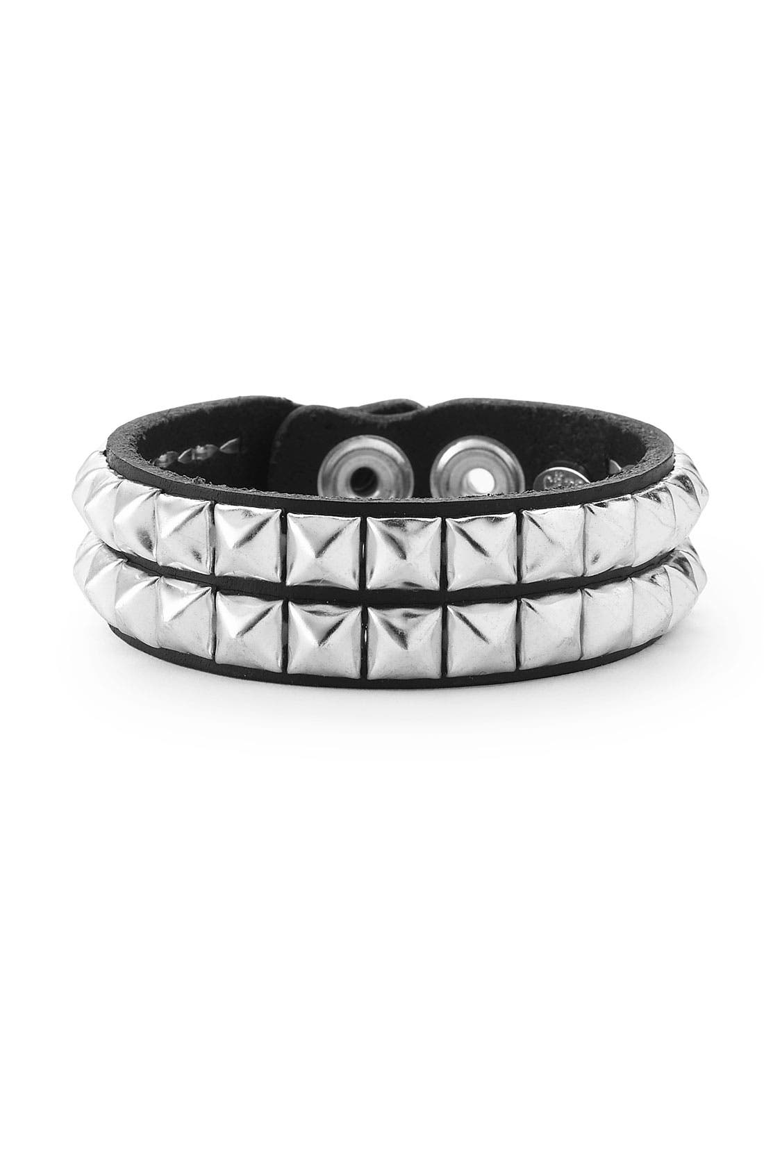 Alternate Image 1 Selected - Cara Couture Double Row Pyramid Stud Bracelet