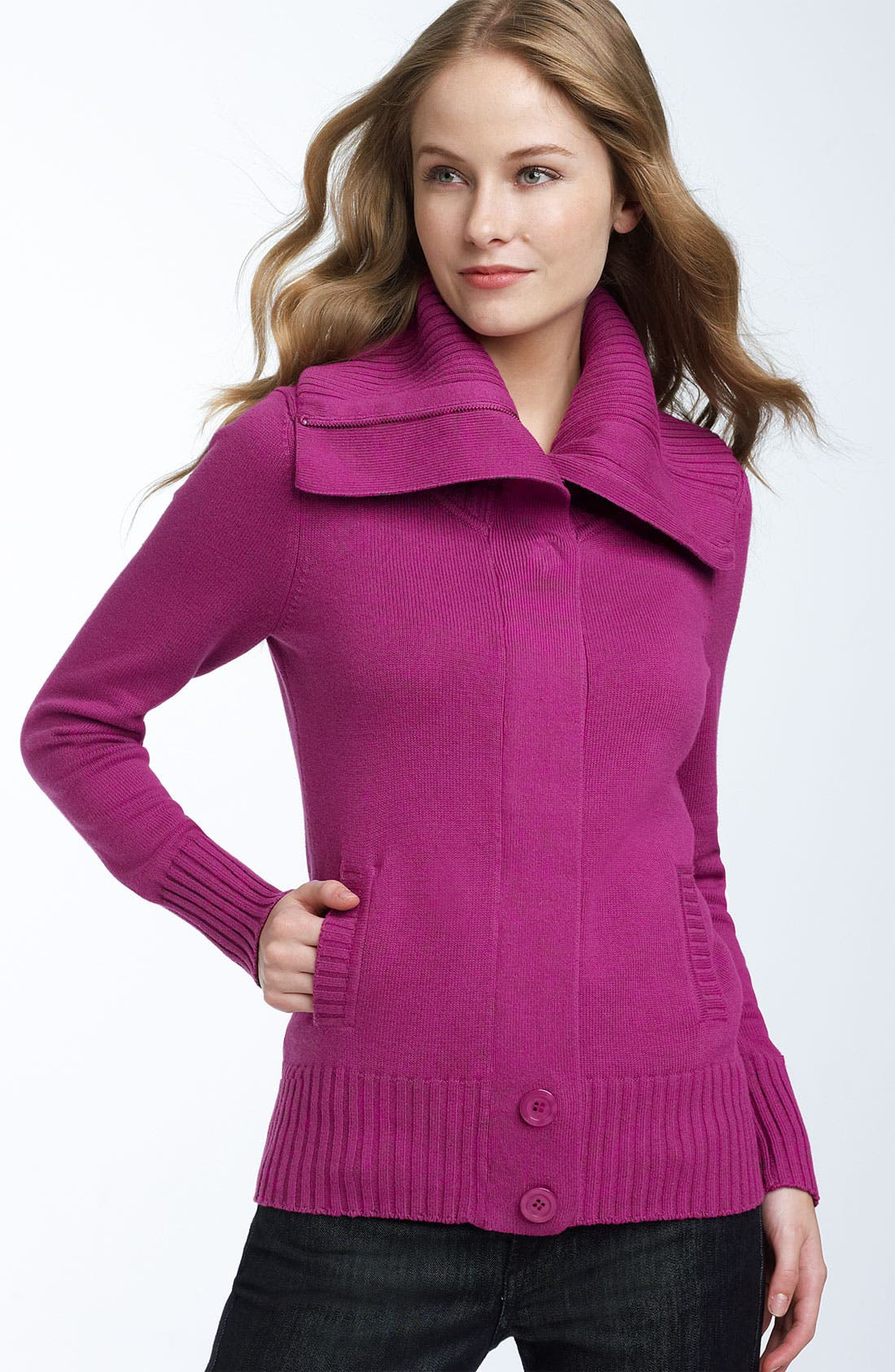 Alternate Image 1 Selected - Caslon® Oversized Collar Cardigan