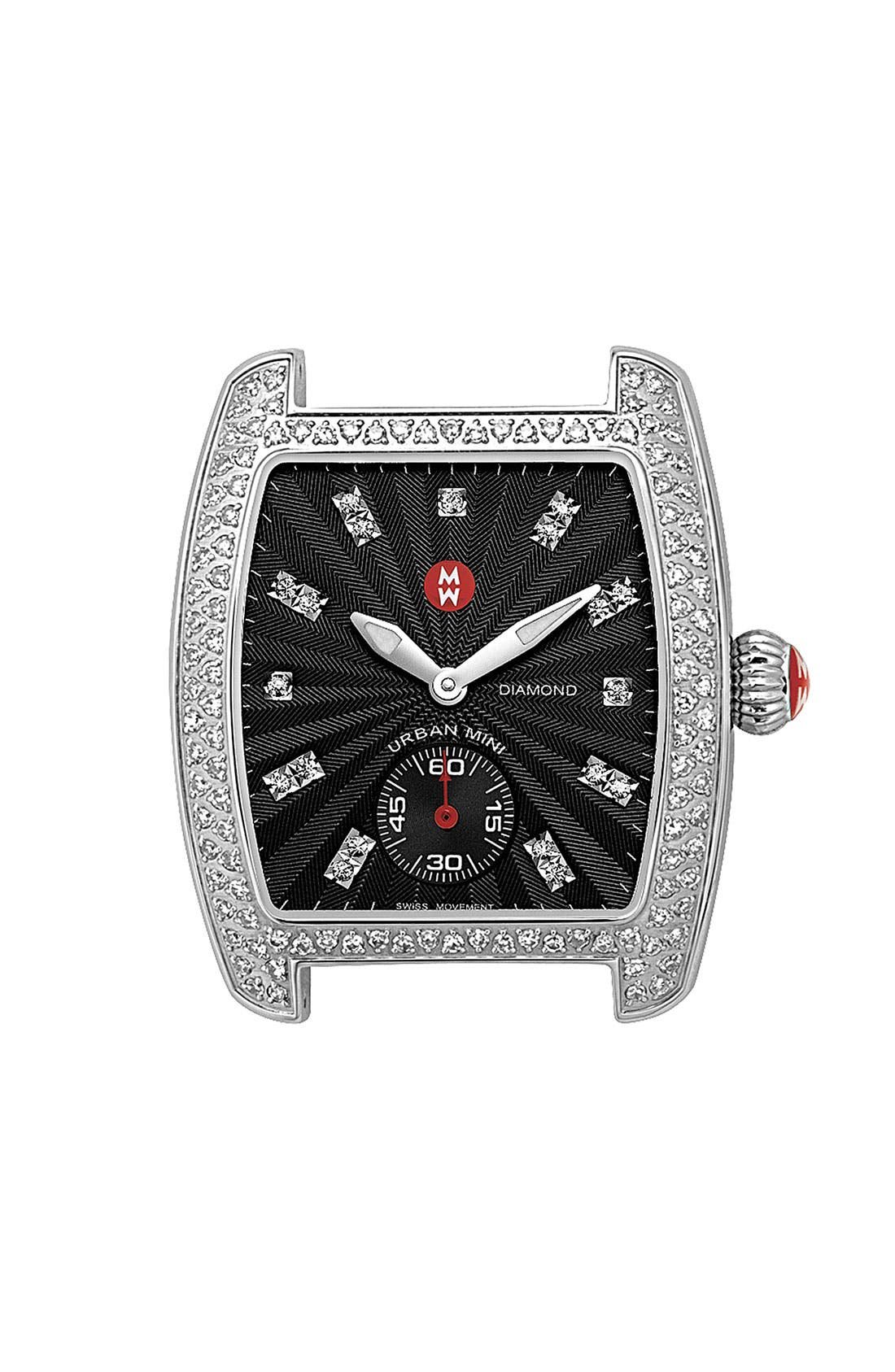 Main Image - MICHELE 'Urban Mini Diamond' Black Dial Watch Case
