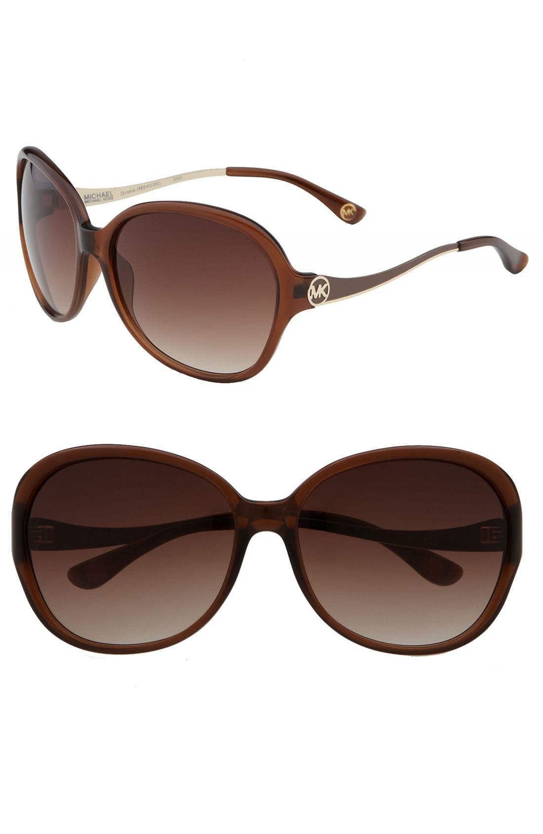 Alternate Image 1 Selected - MICHAEL Michael Kors 'Drake' Oversized Round Sunglasses
